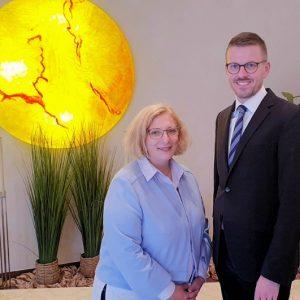 Dr. Daniela De Ridder und Andreas Schnitkerer